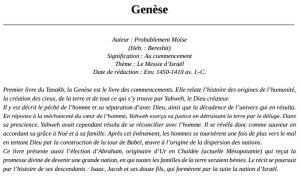 BJC intro Genèse