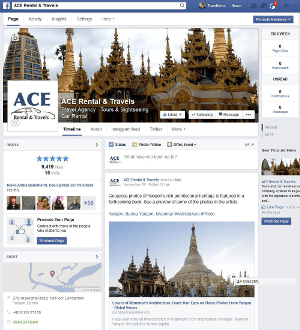 Digital Marketing Consultant Singapore - Portfolio - Facebook Marketing and Advertising - Ace Rental & Travels Facebook Page