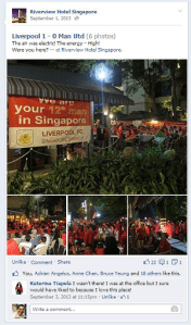 Digital Marketing Consultant Singapore - Portfolio - Facebook Marketing - Liverpool Football Club regular meet at Riverview Hotel