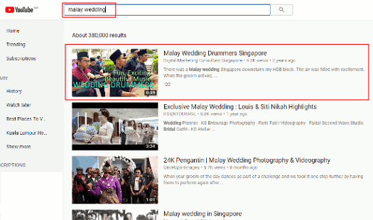 How To Rank On YouTube - Malay Wedding - small