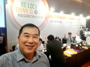 Timotheus at Registration of Fuji Xerox's Be Local, Think Global Forum