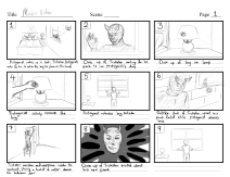 Music video storyboard -Page 1