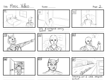 Music video storyboard -Page 2