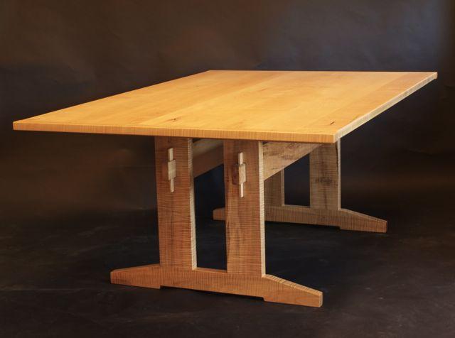 Maple Trestle Table By Timothy Clark, Www.timothlyclark.com
