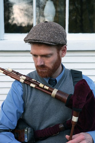 playing the Scottish smallpipes