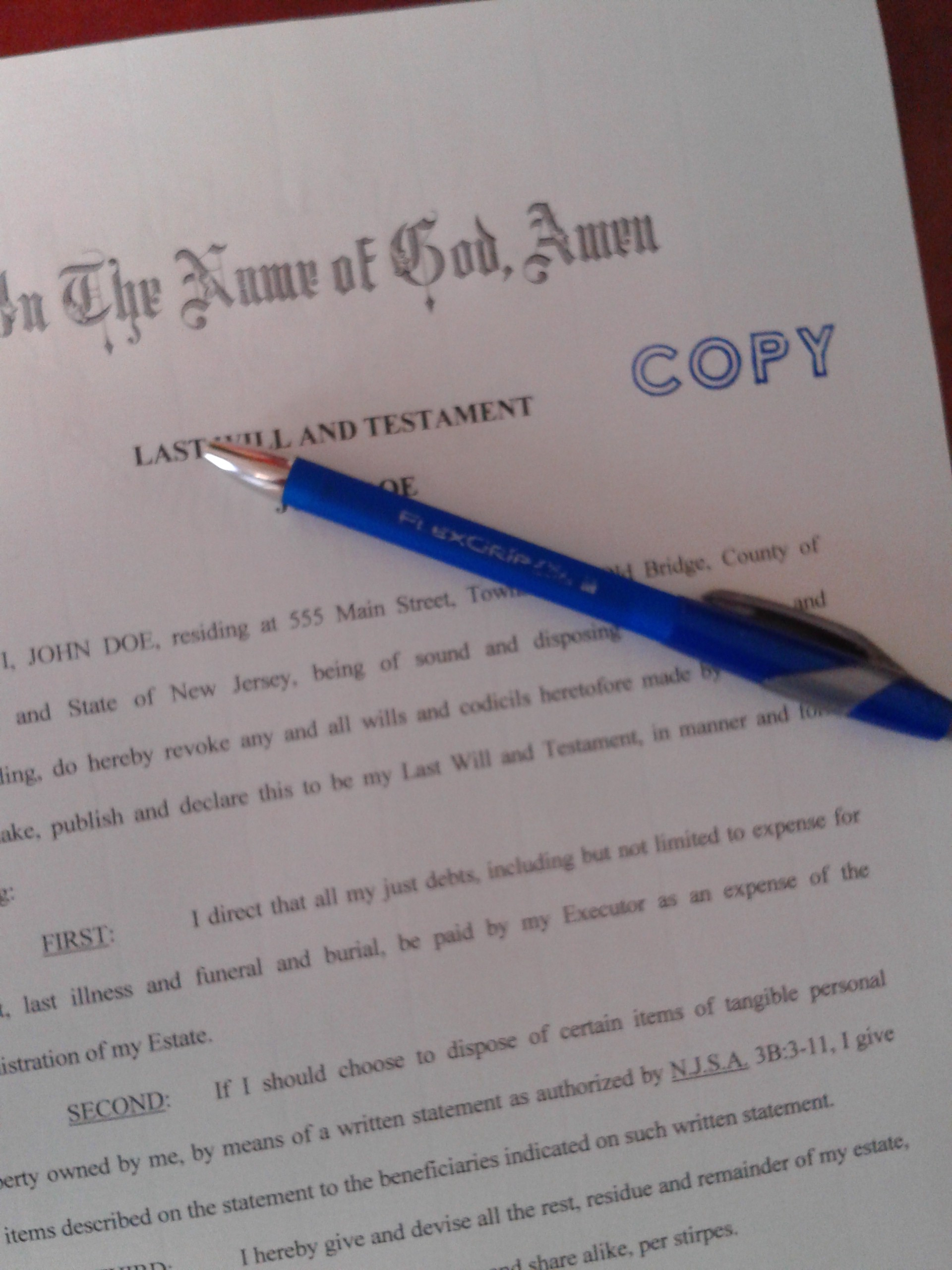 New Jersey Probate  Estate Law Timothy J Little PC 7326345512 Grounds to Remove