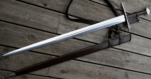 realistic medieval sword
