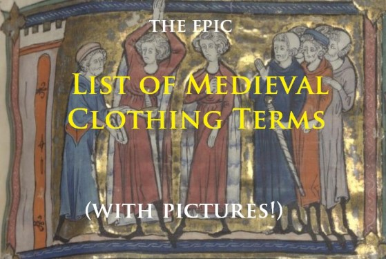 list of medieval clothing