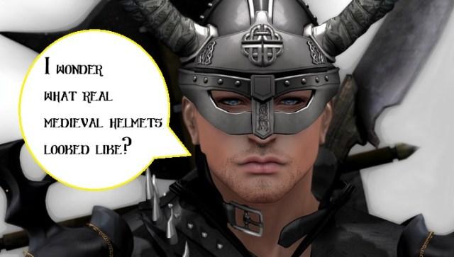realistic medieval helmets