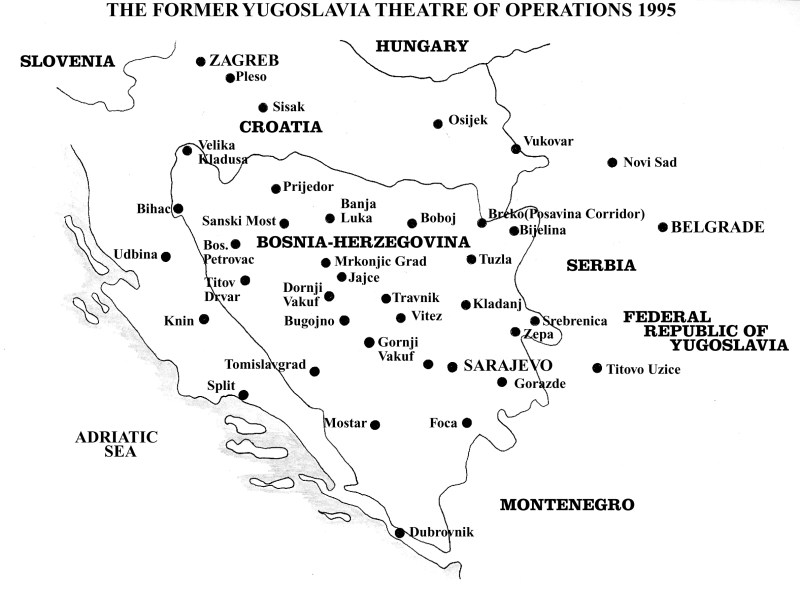 Operation Deliberate Force: Main Map