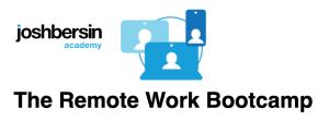 Josh Bersin Academy Launches New Remote Work Program!
