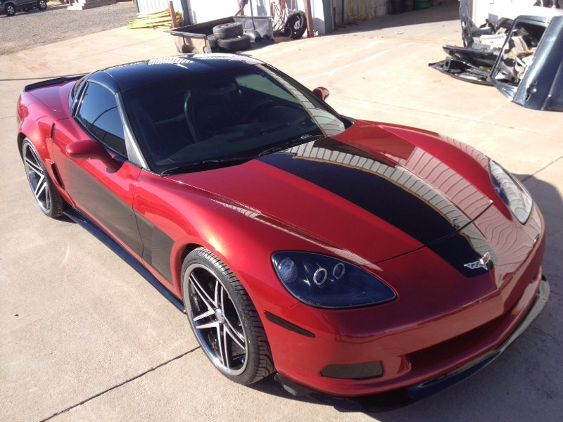 Custom two-tone Corvette by Body Worx of Guthrie.