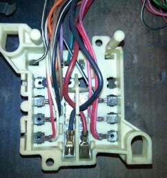 back side of fuse block after re work tim s 1970 dodge challenger r t back side of fuse box [ 1066 x 800 Pixel ]