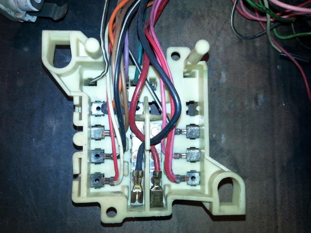 medium resolution of back side of fuse block after re work tim s 1970 dodge challenger r t back side of fuse box