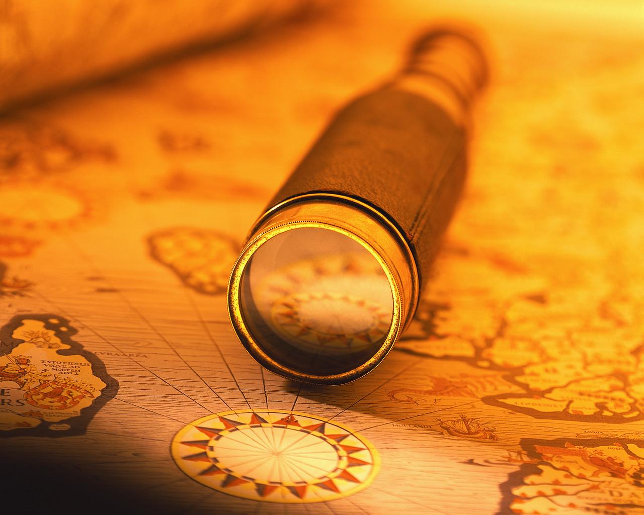 Spyglass on a Map