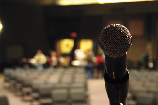 preaching microphone