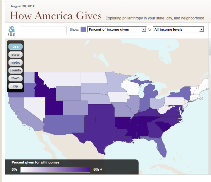 How America gives