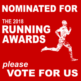 Click on the icon to vote for timsrunningworld.com in the 2018 Running Awards, Blog category!