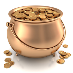 cash flow working capital Shutterstock pot of gold