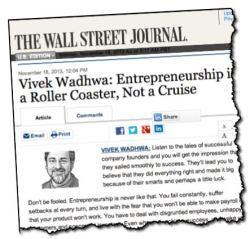 Vivek Wadhwa WSJ.com Entrepreneurship