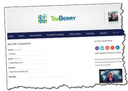 timberry.com, ask-me form, Tim Berry