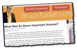 Bruce Turkel Turkel Talks Blog