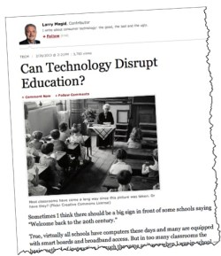can technology disrupt education