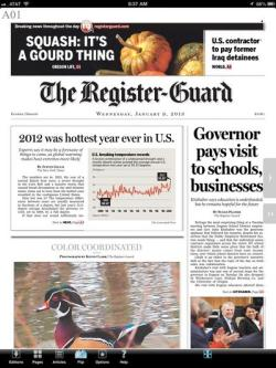 Eugene Register Guard newspaper journalism