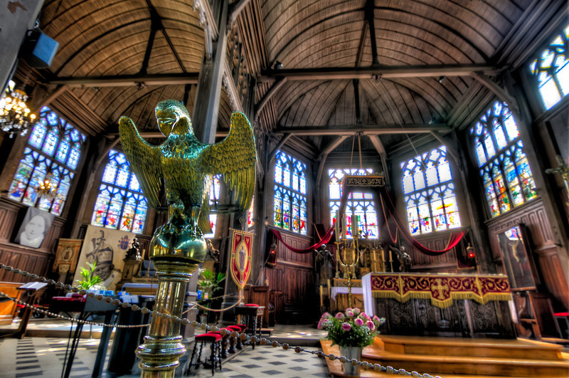 This is the two naves inside of Saint-Catherine's Church, in the beautiful town of Honfleur, France. It is one of the few wooden churches left. Photography by Tim Stanley Photography.