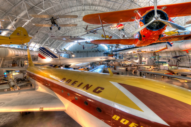 This is another view of the awesome Boeing Aviation Hanger at the Udvar-Hazy Center. The sheer size and quality of the exhibit impresses everyone, whether you're a plane nut or not. Photo by Tim Stanley Photography.