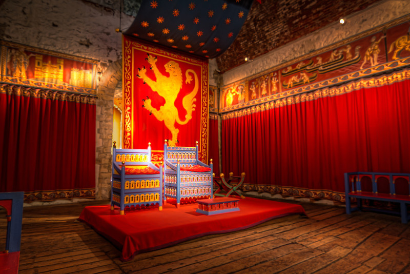 This recreation of the Throne Room provides some insite as to how it might have looked in the medieval times. Photo by Tim Stanley Photography.