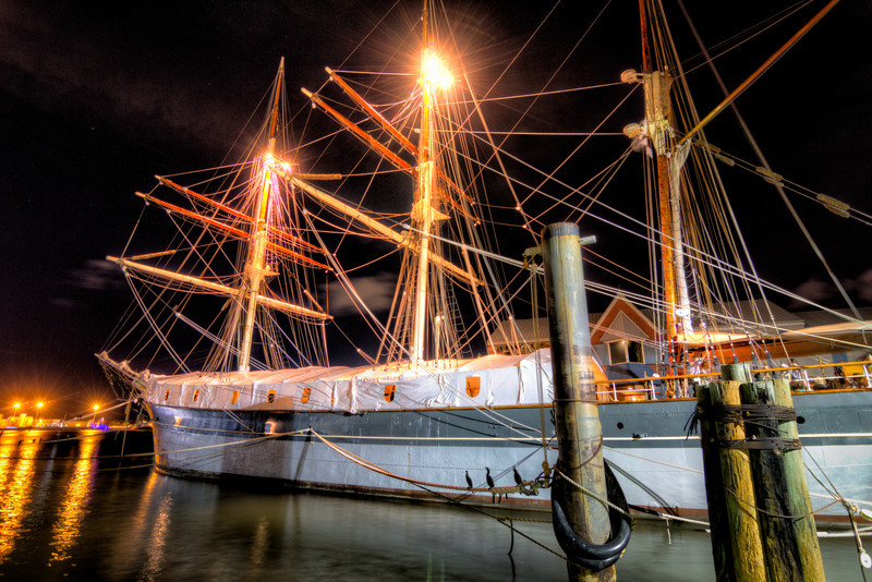 From the back deck of the Fisherman's Wharf in Galveston, you enjoy a great view of the Elissa. Photo by Tim Stanley Photography.