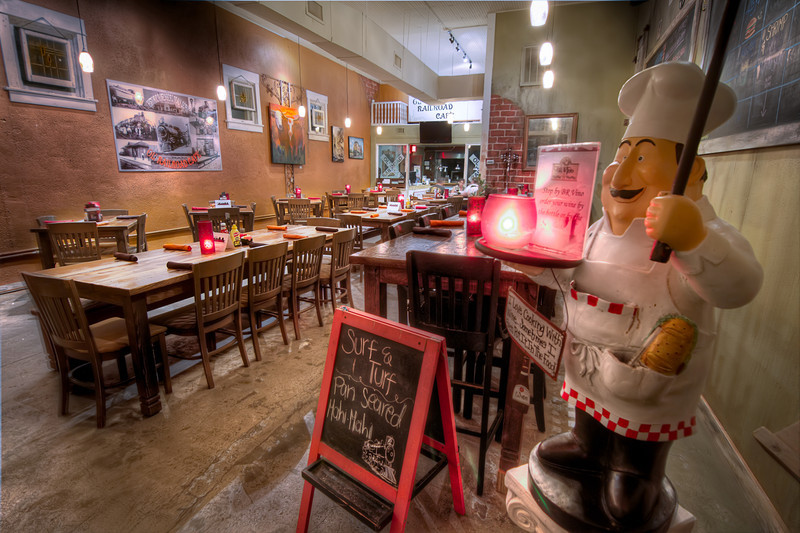 The Ol'RailRoad Cafe is one of those unexpected surprises, both in the nice folks that run the restaurant, as well as the food they offer. The setting is rustic, but comfortable. Photo by Tim Stanley Photography.