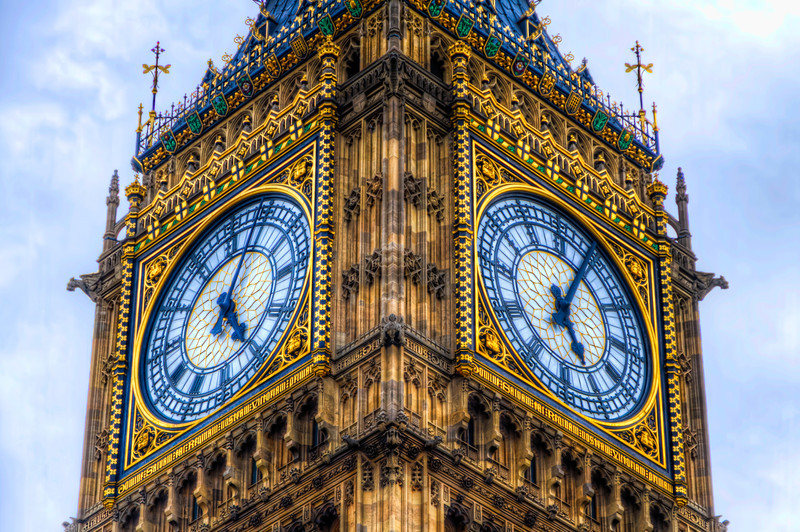 "The ""Clock Tower"" in London was renamed the Elizabeth Tower in 2012 to celebrate the Diamond Jubilee of Elizabeth II.  The tower holds the largest four-faced chiming clock in the world and is the third-tallest free-standing clock tower. Photo by Tim Stanley Photography."