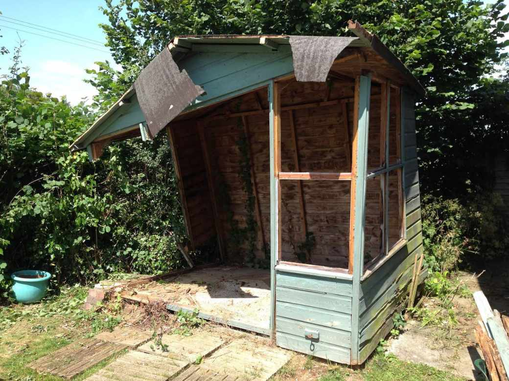A rather fragile looking summerhouse
