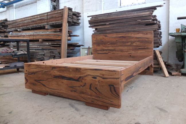 Recycled hardwood bed, Melbourne