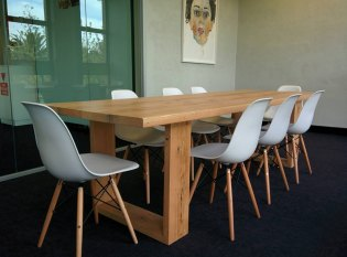 Modern recycled Oregon table