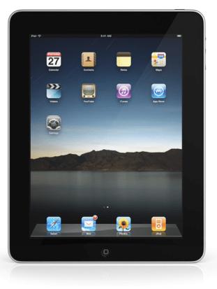 Apple iPad front screen