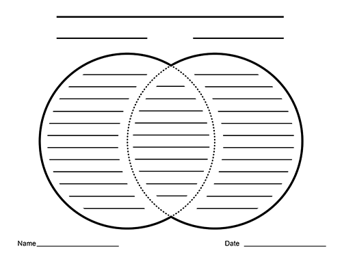 free printable venn diagram with lines wrangler radio wiring blank diagrams for writing