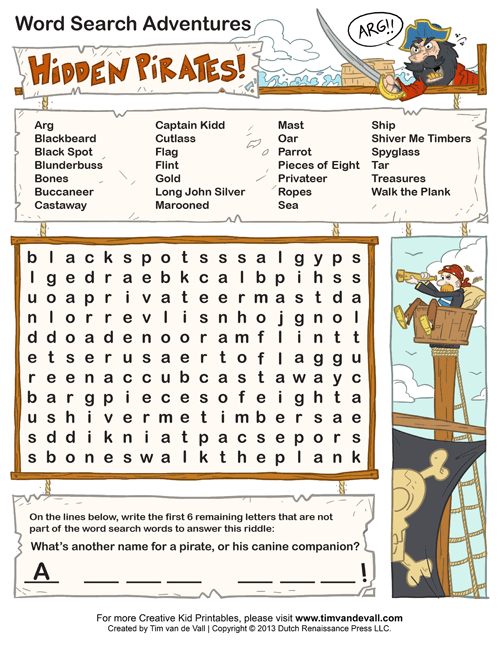 word search puzzles for kids