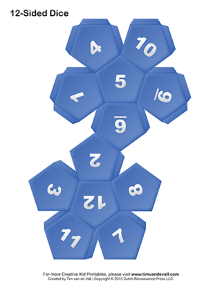 Printable-12-Sided-Paper-Dice-Blue-350w