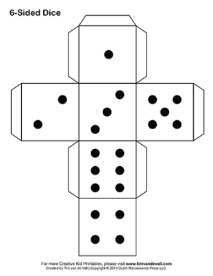 printable paper dice