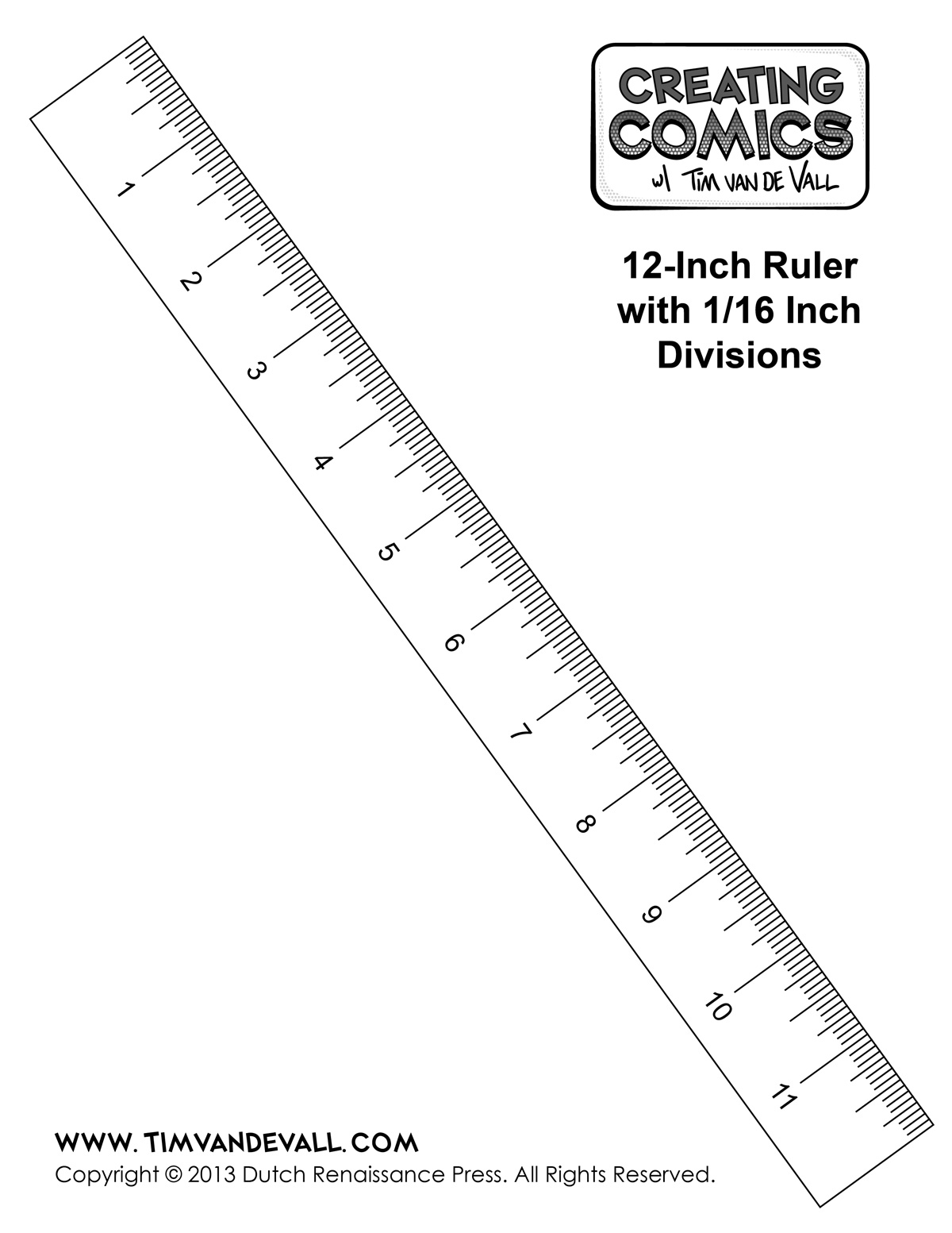 Printable Ruler Template In Inches Creating Comics