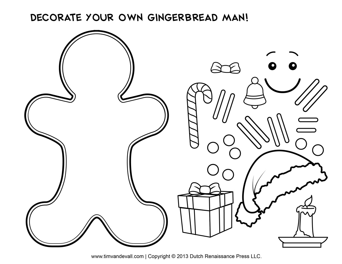 Search Results For Gingerbread Man Cut And Paste Activity
