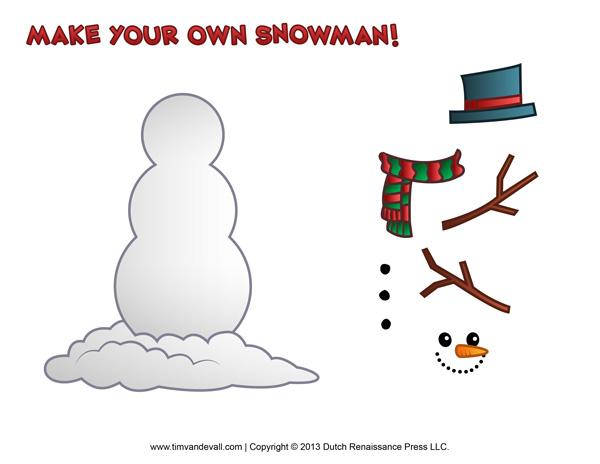 Printable Snowman Template