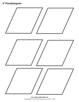 Parallelogram Printable Coloring Pages