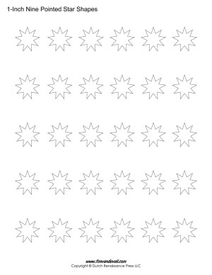 nine pointed star shapes