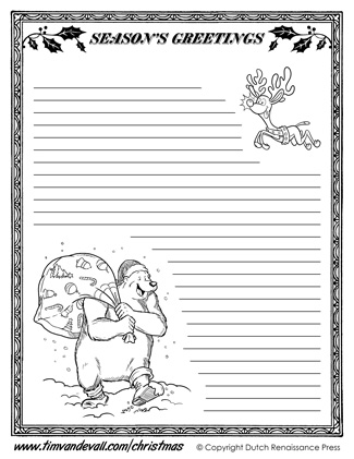Free Christmas Writing Paper