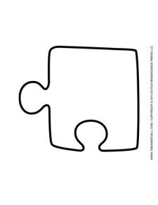 Puzzle Piece Template #2