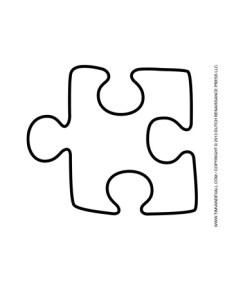 Puzzle Piece Template #3